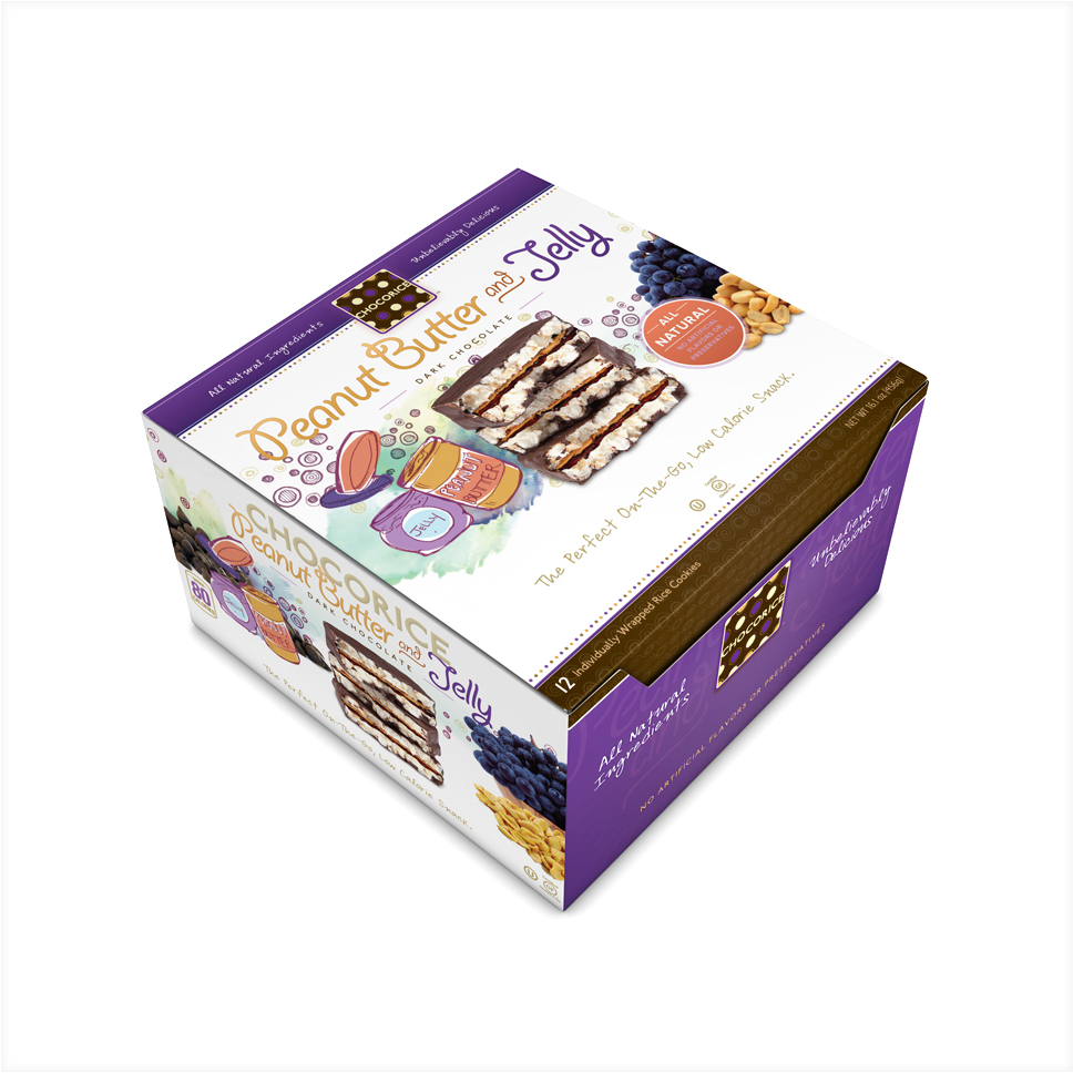 Chocorice - Peanut Butter and Jelly 12 CT Boxes