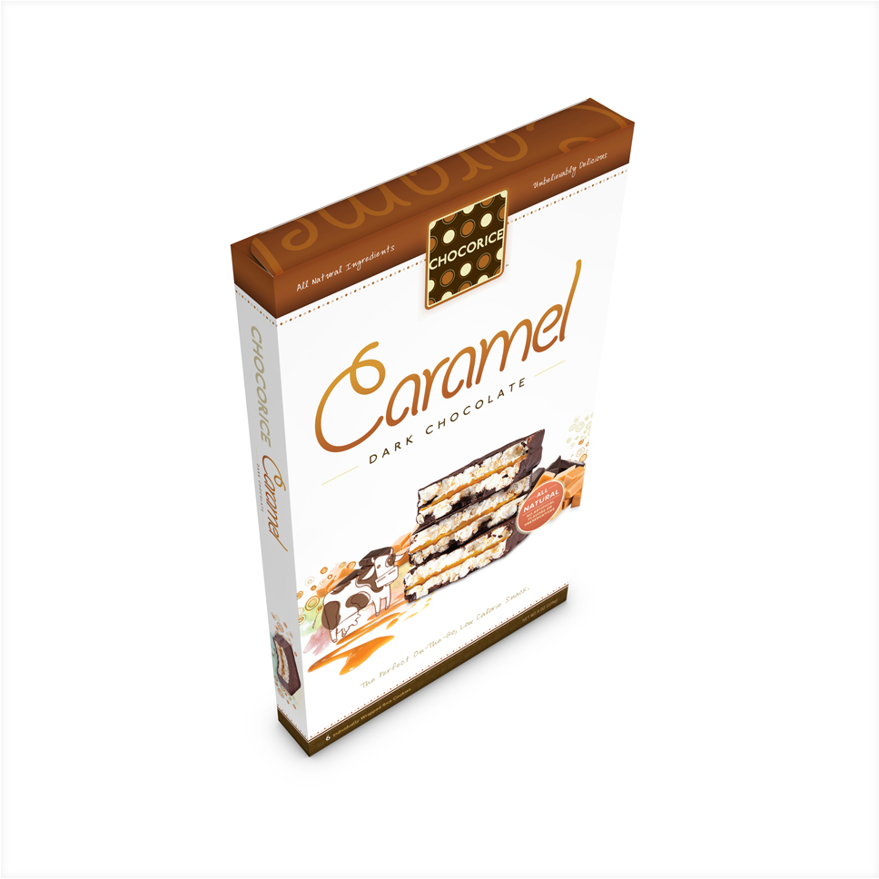 Chocorice - Caramel & Dark Chocolate 6 CT Boxes