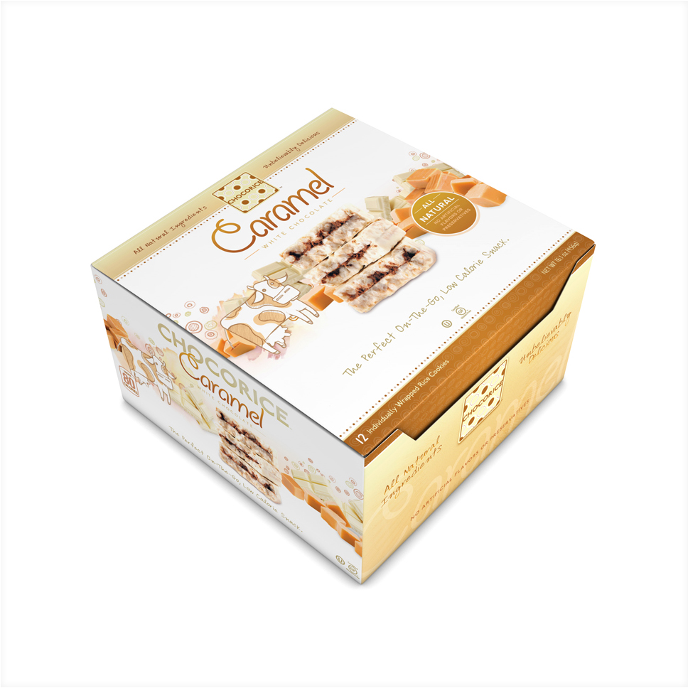 Chocorice - Caramel & White Chocolate 12 CT Boxes