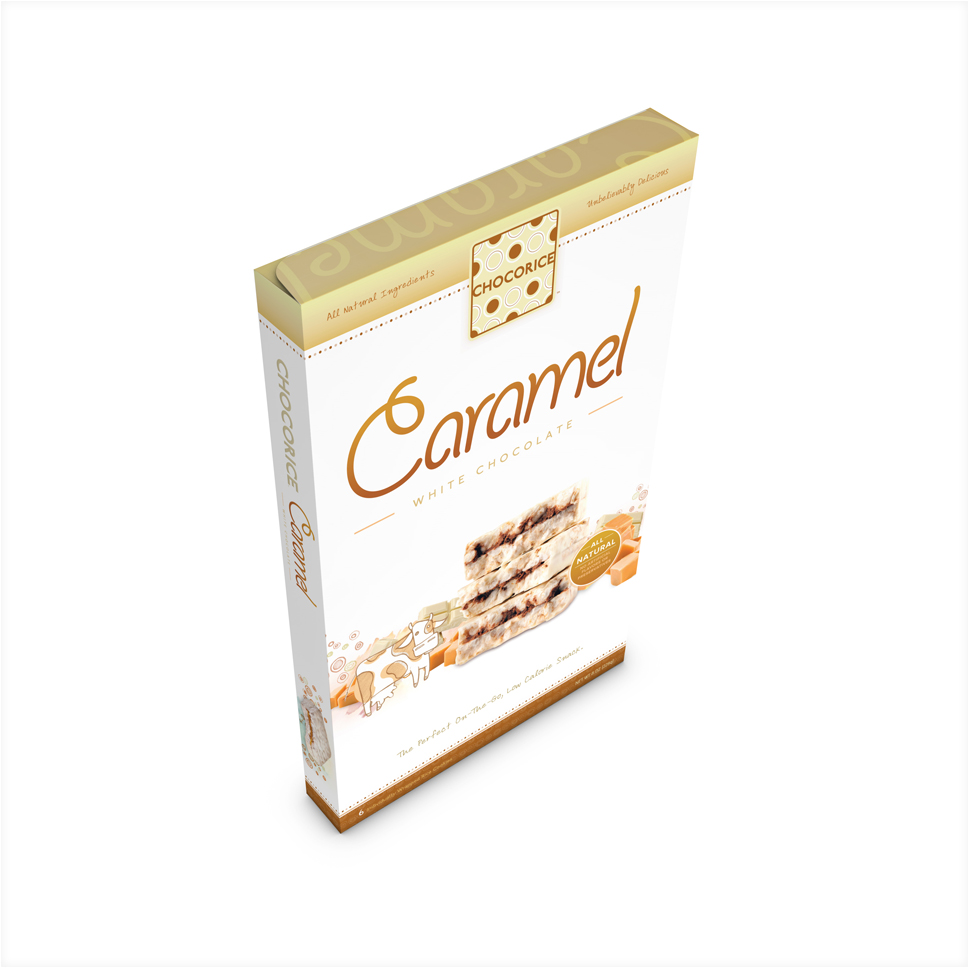 Chocorice - Caramel & White Chocolate 6 CT Boxes