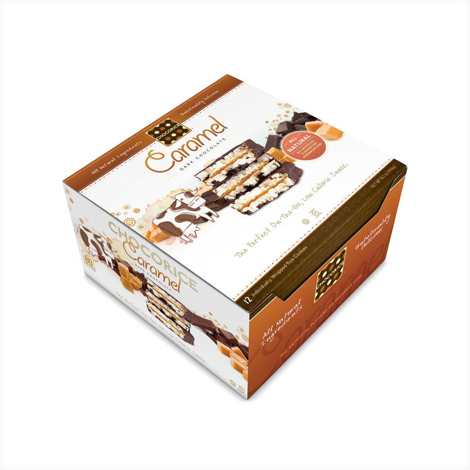 Chocorice - Caramel & Dark Chocolate 12 CT Boxes