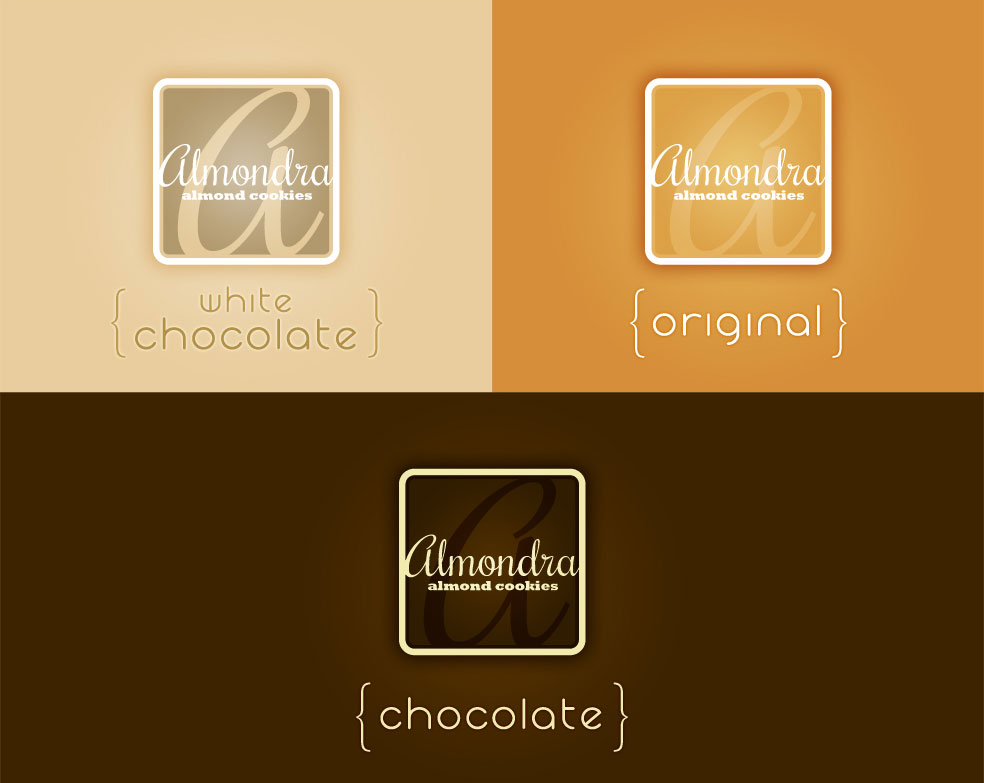 Almondra Logos and Flavors