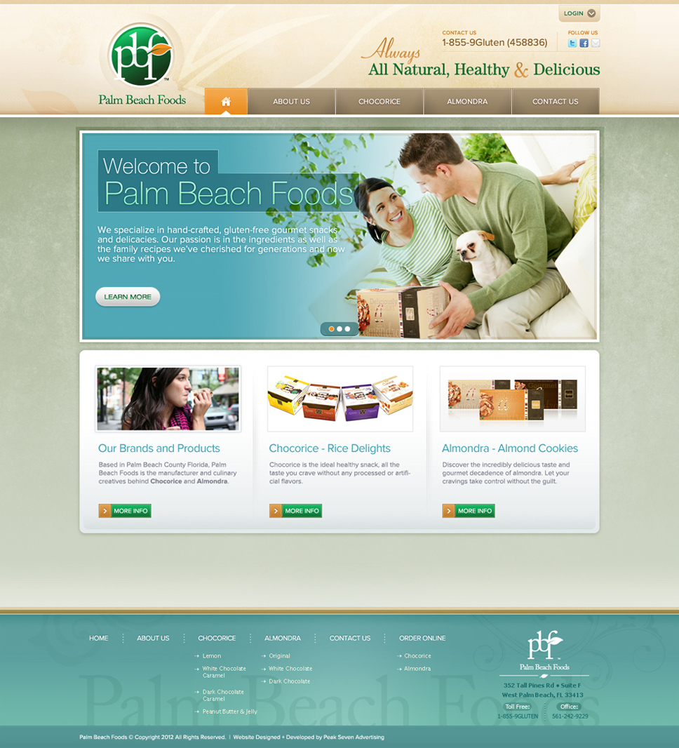 Palm Beach Foods Home Page Detail
