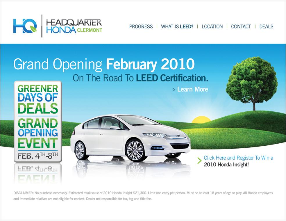 Headquarter Honda Landing Page UI Design