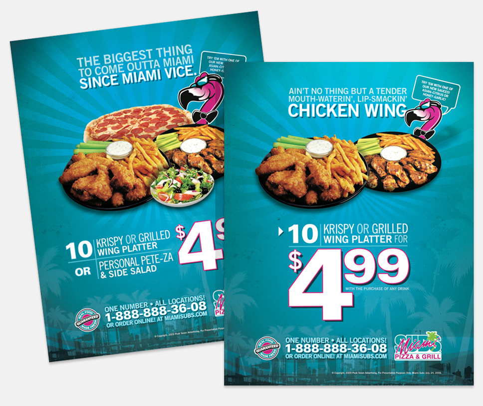 Miami Subs Ad/Flyer/Promo Design 2