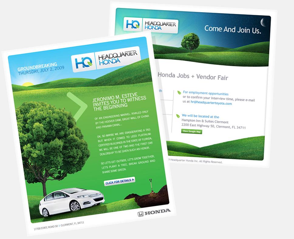 Headquarter Honda Email Designs