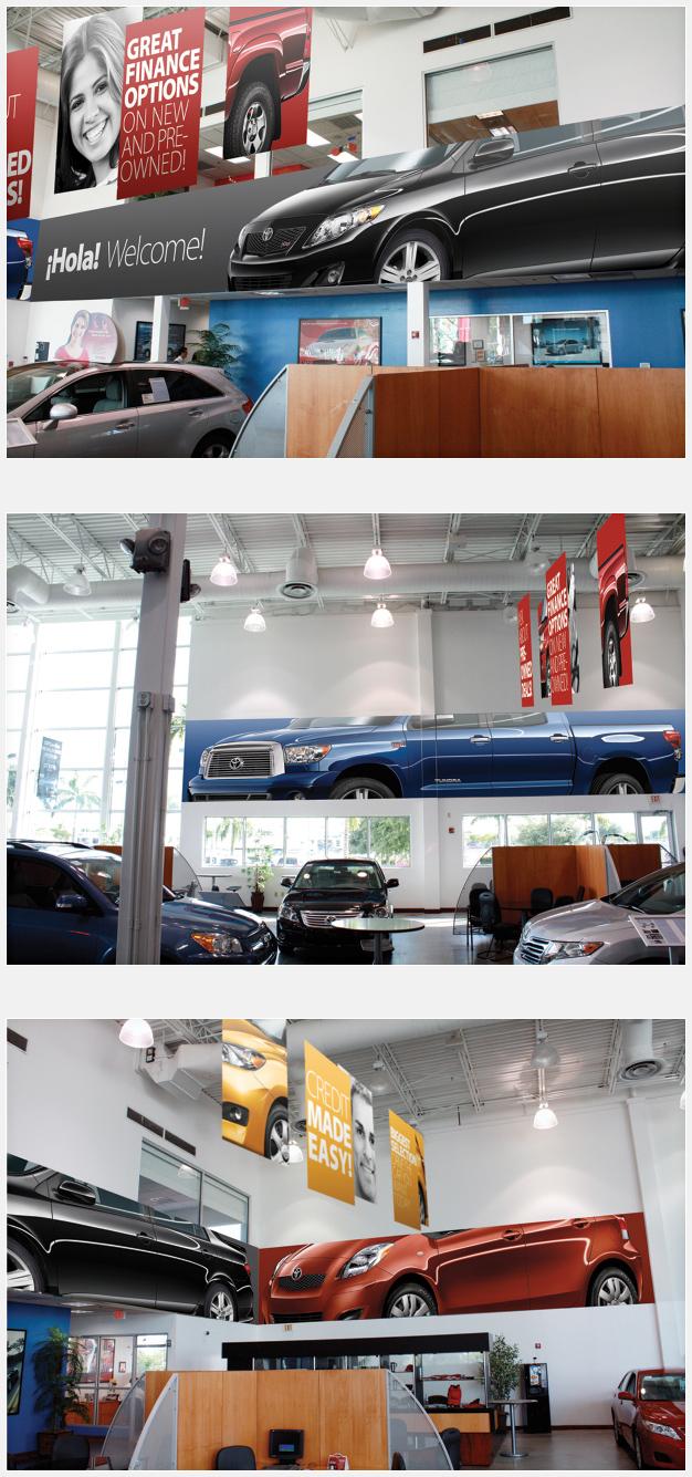 Headquarter Toyota Showroom Banners