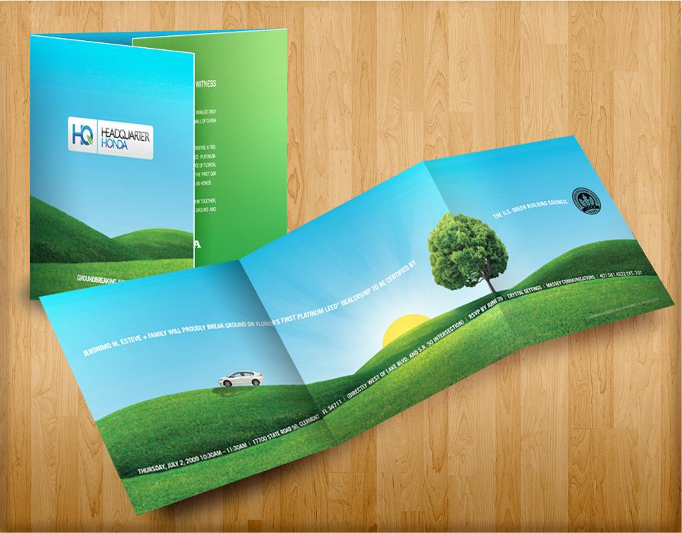 Headquarter Honda Brochure Design