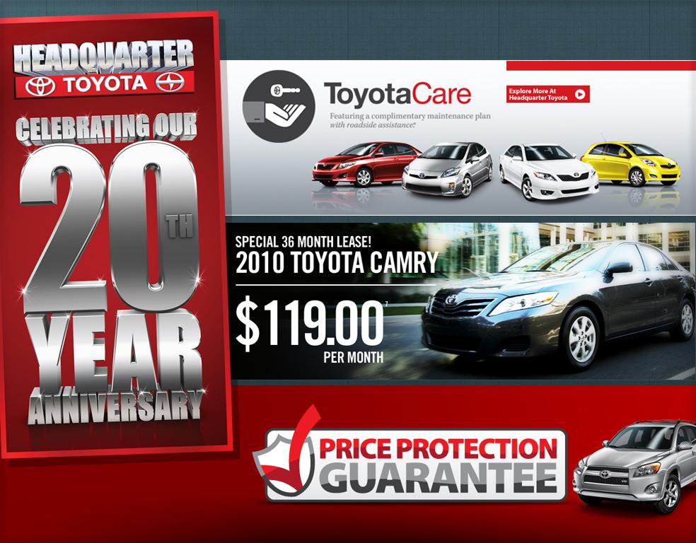 Headquarter Toyota Banners Designs