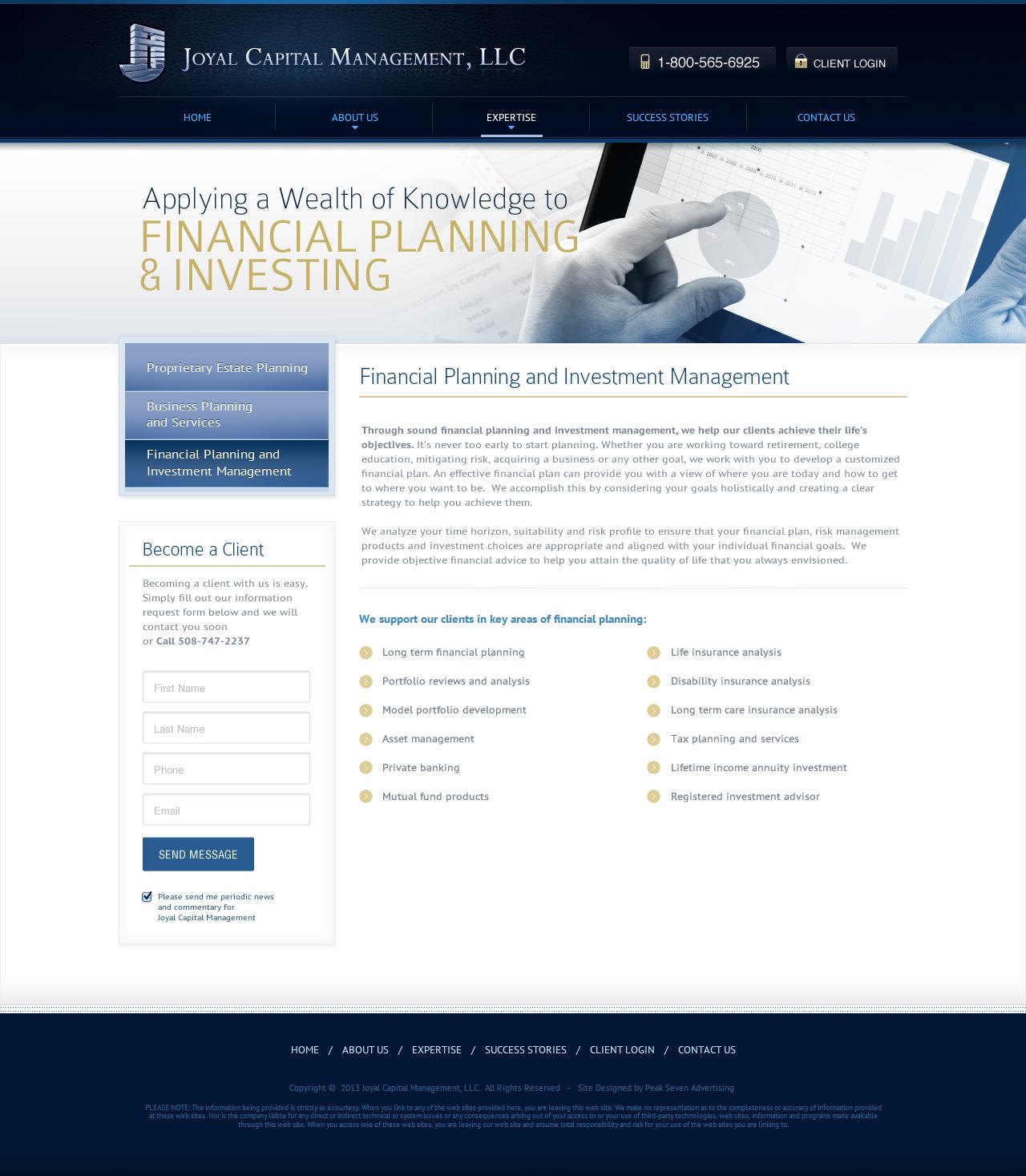 Financial Planning Details