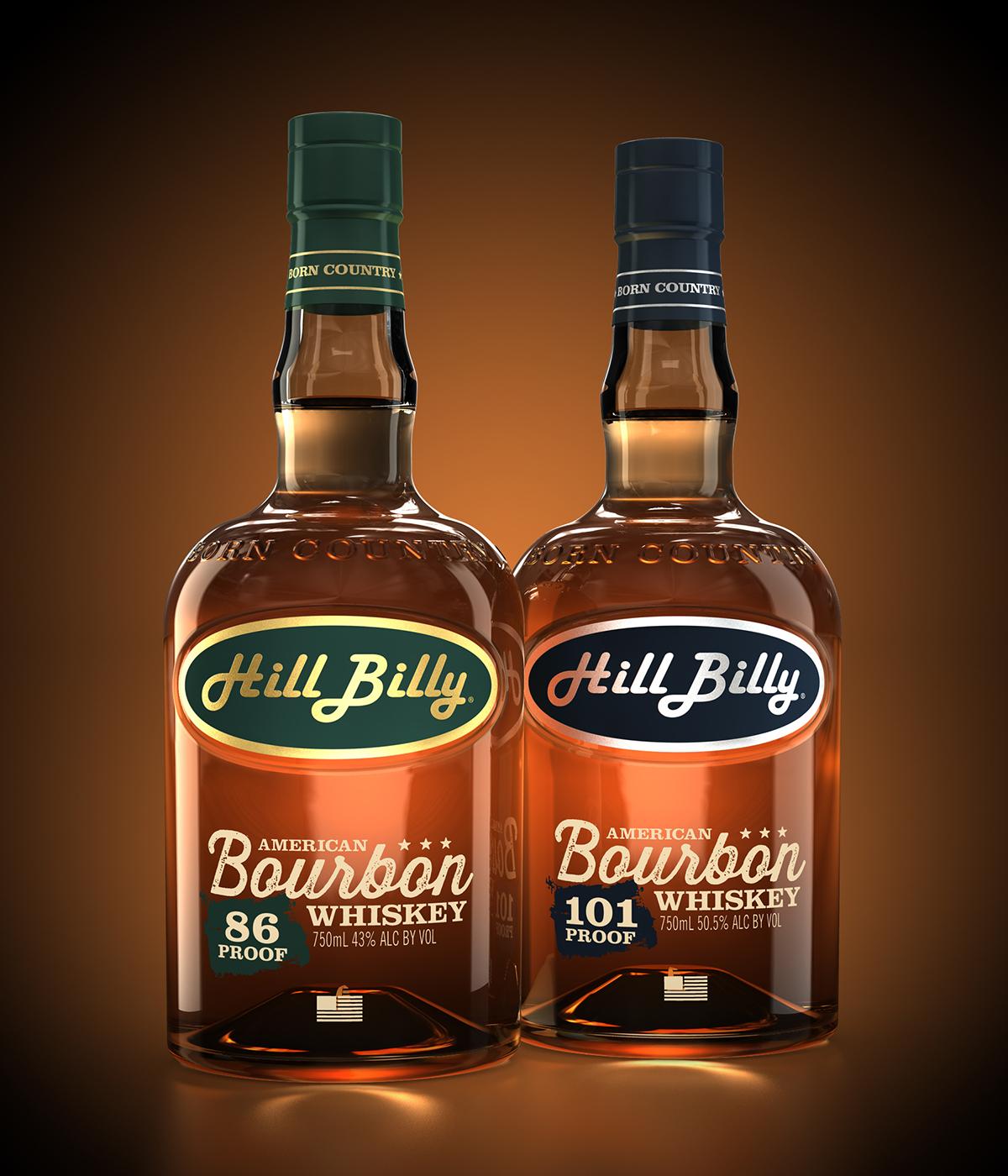Hillbilly Bourbon Bottle 3D Rendering