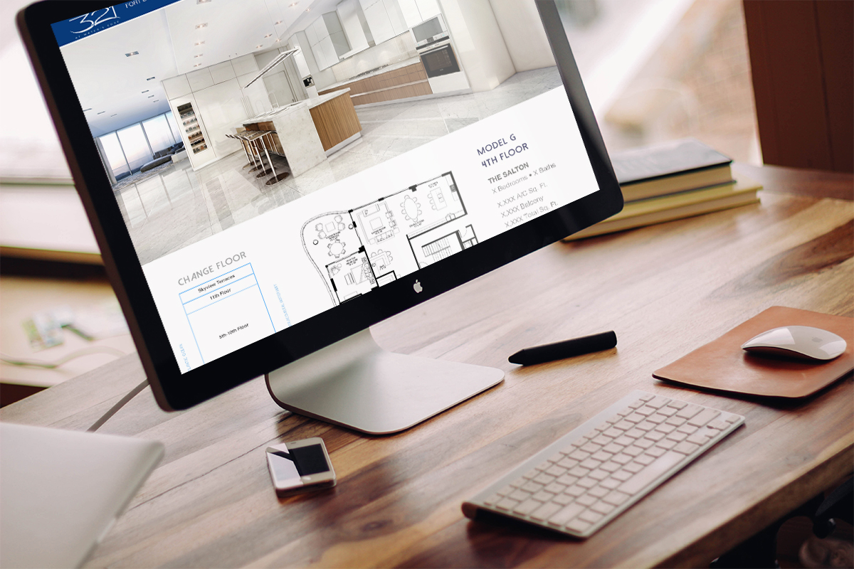 Website Design & Development: Employ best practices of design, functionality and lead generation to highlight the unique selling points of the development to qualified buyers