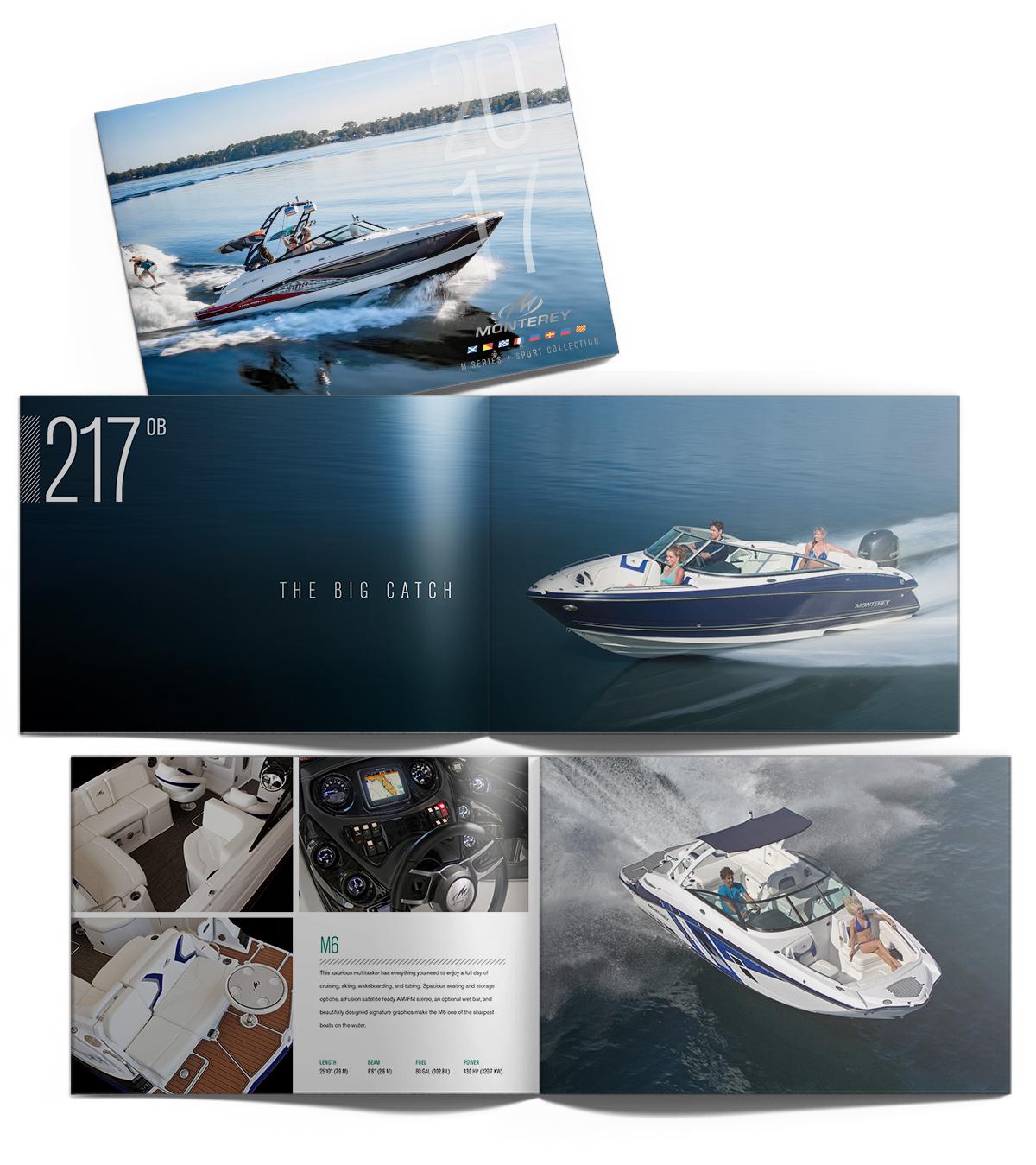 Monterey Boats Catalog Design