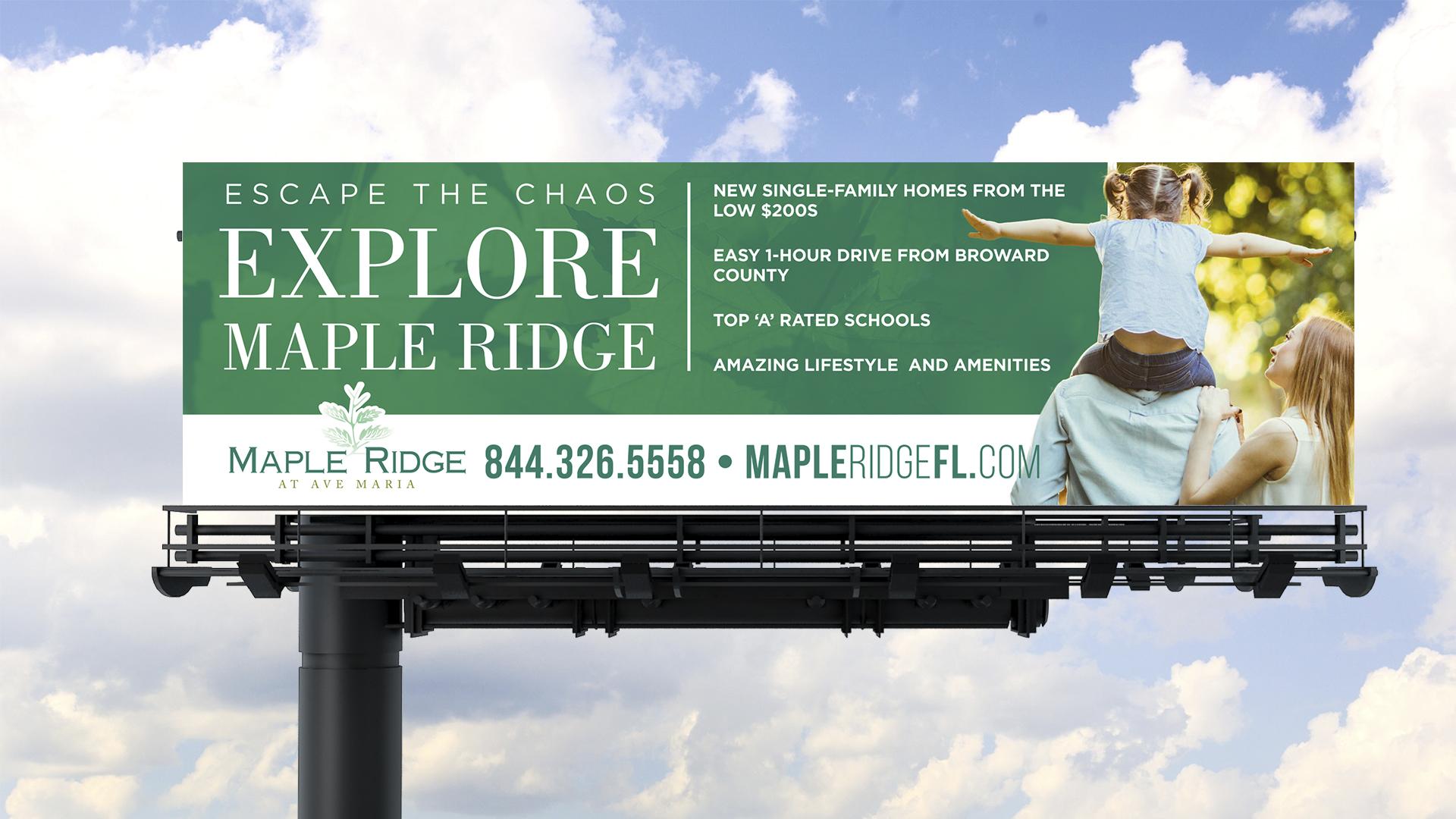 Maple Ridge Downtown Doral Billboard